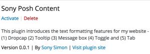 Sony Posh Content - Plugin Details