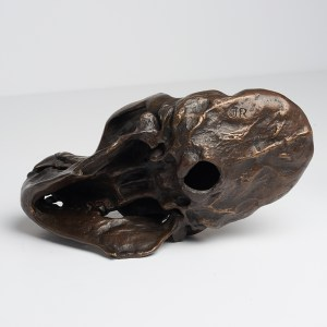Bronze Gorilla Skull Sculpture Edition III Sooka Interior signed by Jake Richmond