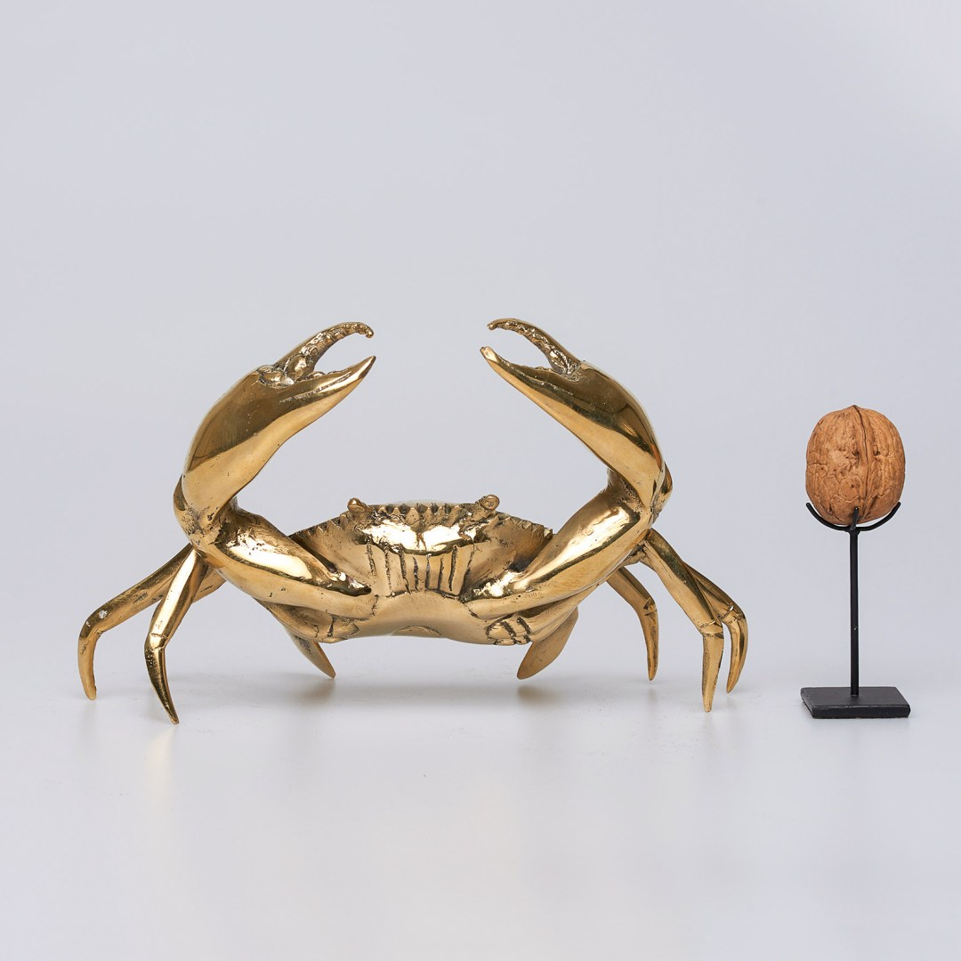 Polished bronze Crab, Small