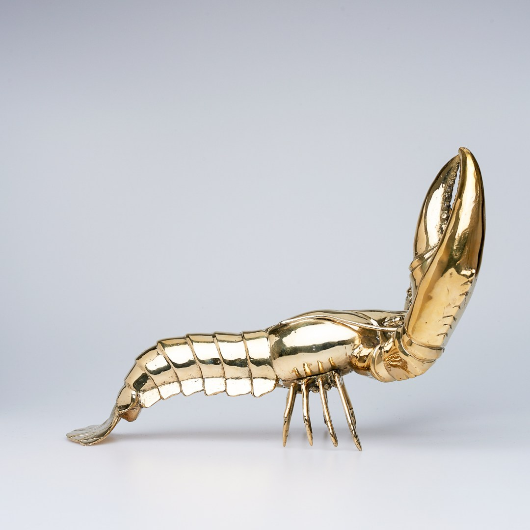 Polished Bronze Lobster, Medium