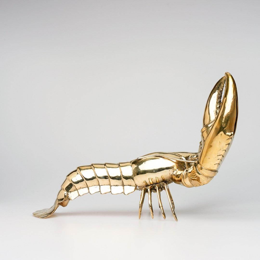 lobster in polished bronze, medium