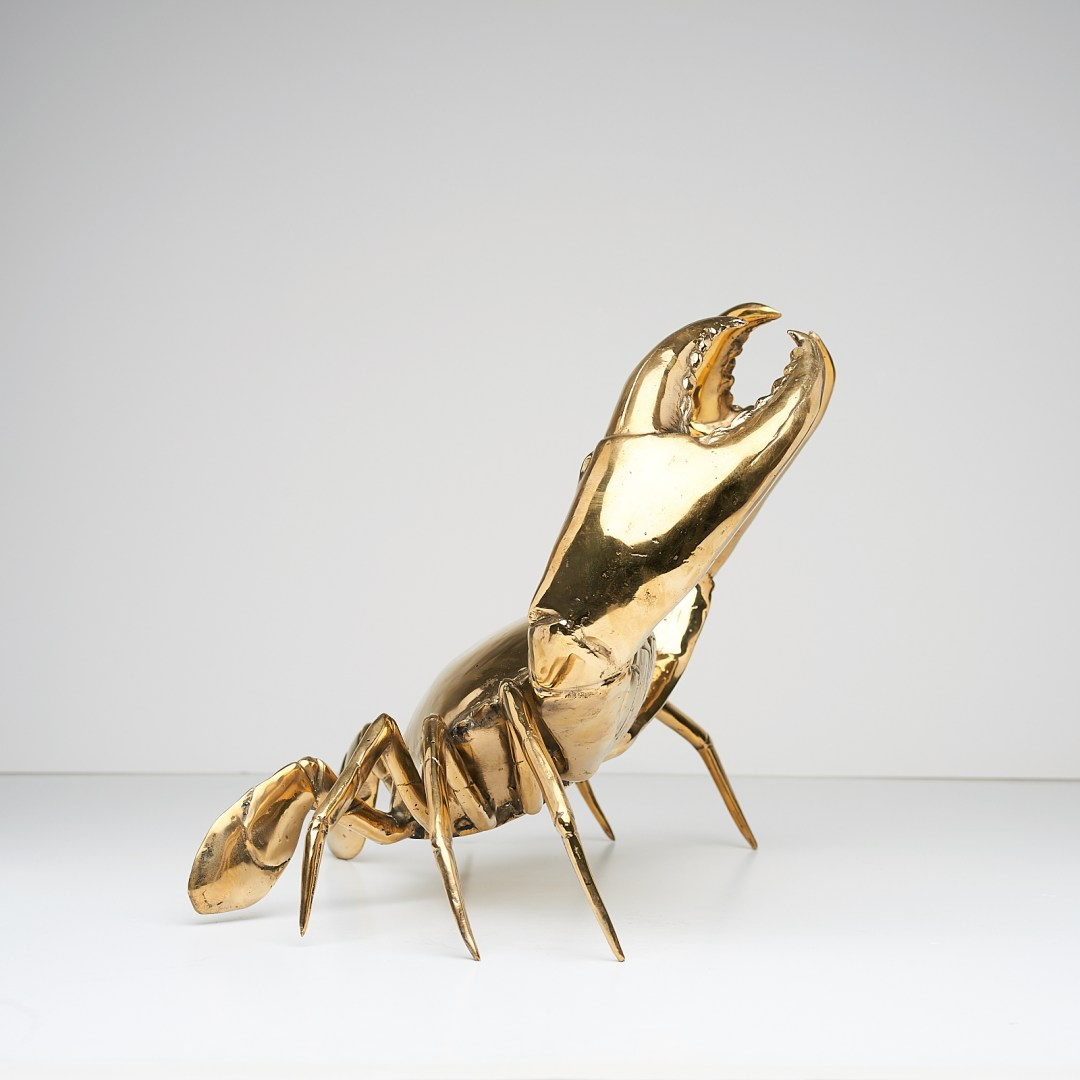 Crab in polished bronze, Large