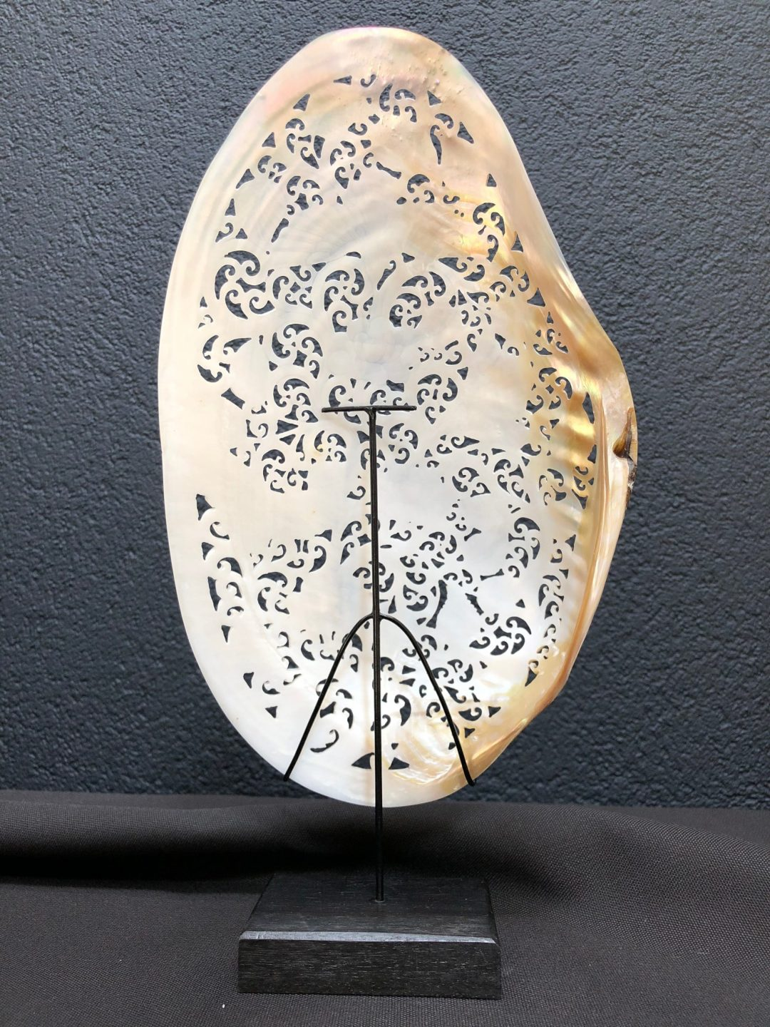 Carved Mother of Pearl Shell Hummingbird