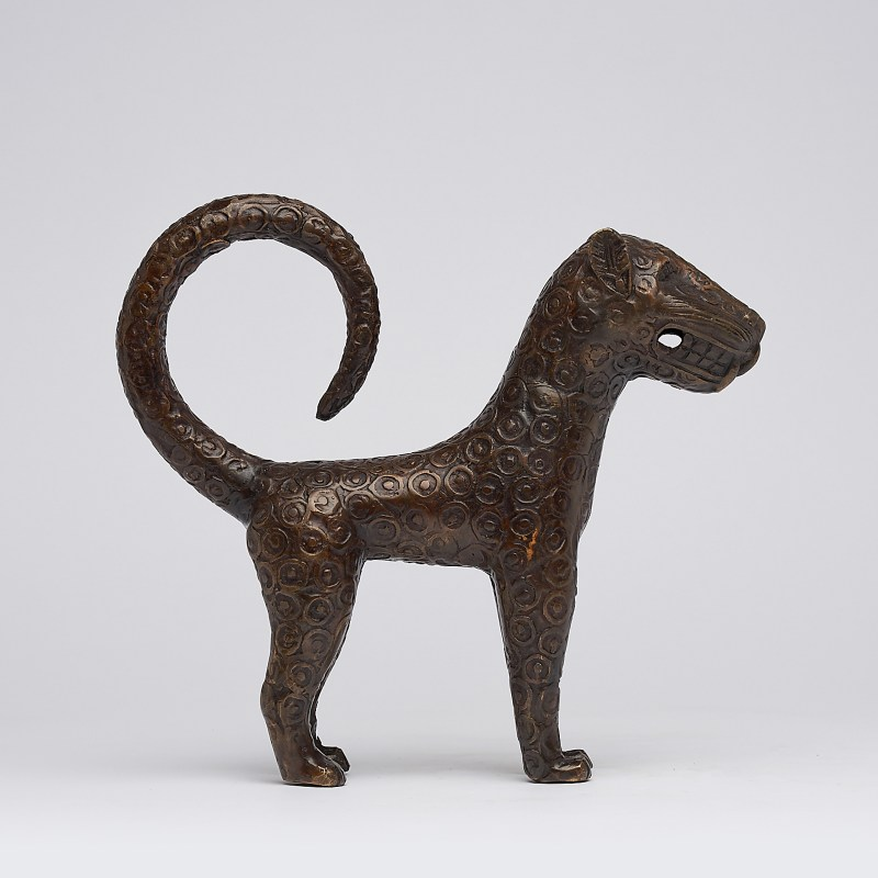 bronze african benin leopard
