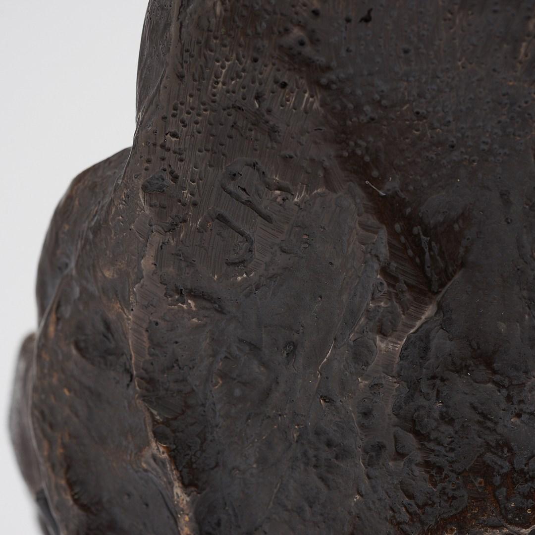 bronze western lowland gorilla skull