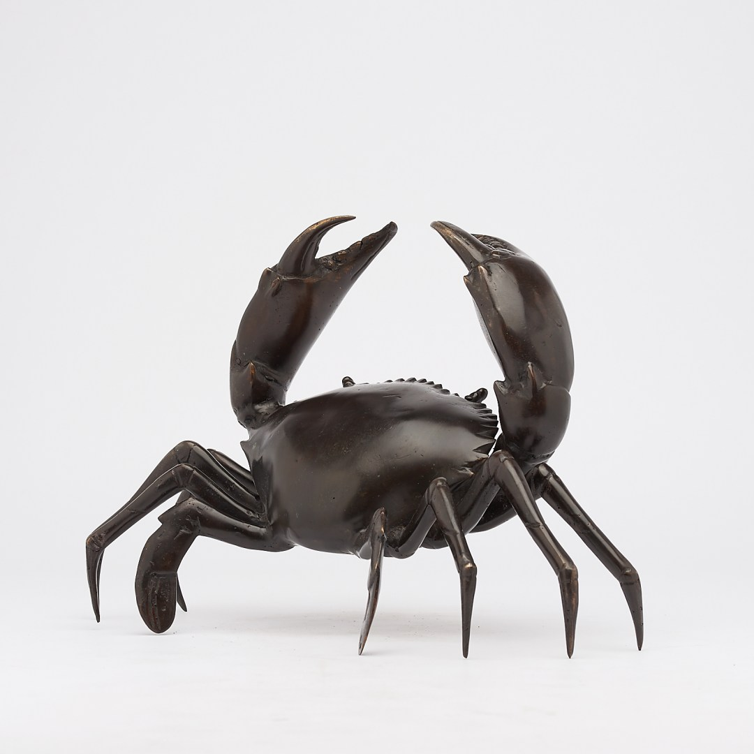 crab in bronze