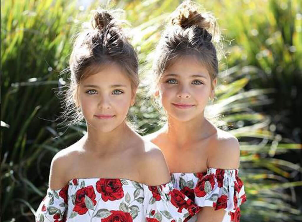 Ein Paar brachte wunderschne Zwillinge zur Welt  schauen