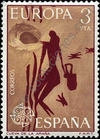 Sello España 1975 Serie Europa C.E.P.T. Cueva de la araña