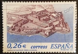 Sello España 2003 Castillo de San Felipe