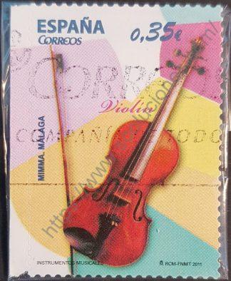 sello españa 2011 violin