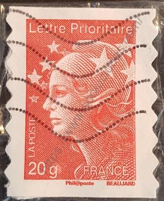 Sello Francia 2011 M. Beaujard lettre prioritarie