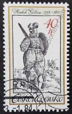Soldado antiguo Estampilla Checoslovaquia 1983