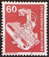 Sello alemania 1978 máquina de rayos X
