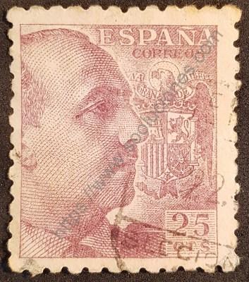 General Franco Sello 1939 valor 25 cts.