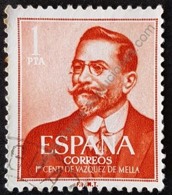 Juan Vázquez Mella sello España 1961