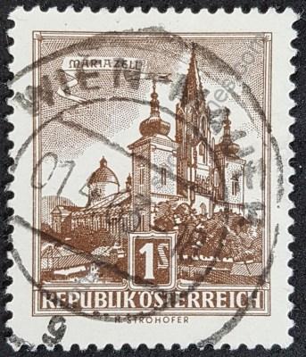 Estampilla Basílica de Mariazell en Austria