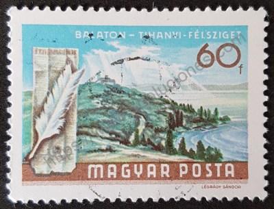 Península Tihanyi en lago Balaton Hungría