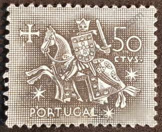 Sello Portugal 1953 Dionisio I Valor facial 50 c