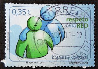 Sello España 2011 Respeto en la red