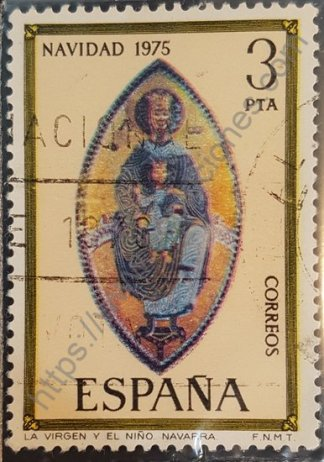 Sello España 1975 Virgen y Niño (Navidad) 3 Pta