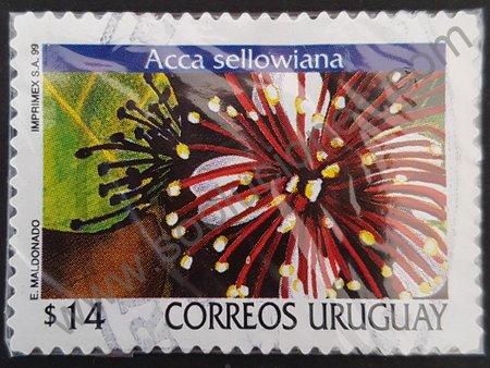 Estampilla Acca sellowiana Uruguay 1999