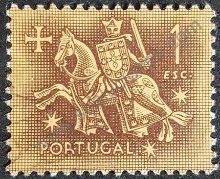 Estampilla Portugal 1953 Rey Dionisio