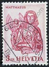Sello de Suiza 1961 Mateo y el ángel