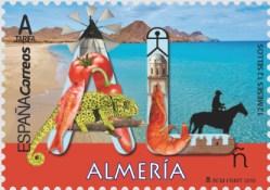 Sello dedicado a Almería provincia de España