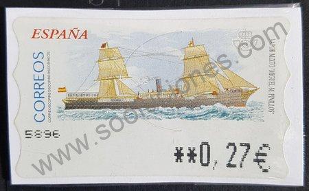 Etiqueta ATM España 2002 Vapor Pinillos