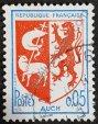 Sello escudo de Auch - Francia 1966