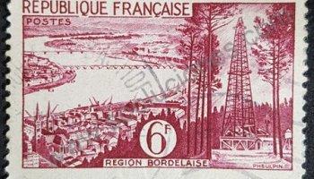 Region Bordeaux sello Francia 1955