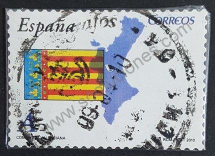 Sello bandera de la Comunidad Valenciana España 2010