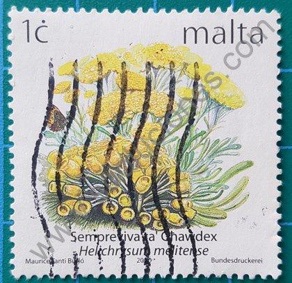 Sello Flores de Malta 2000 Helichrysum melitense