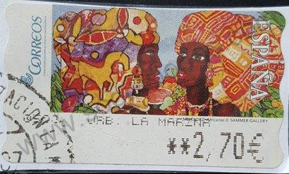 Sello ATM España 2005 Africanas II de Meléndez