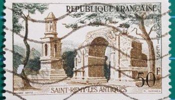 Sello Francia Les Antiques 1957