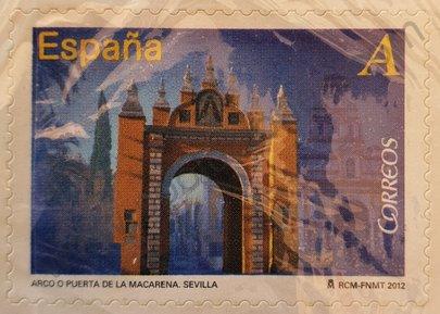 Sello Puerta de la Macarena España 2012