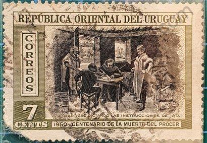 Sello Instrucciones del año XIII - Uruguay 1952
