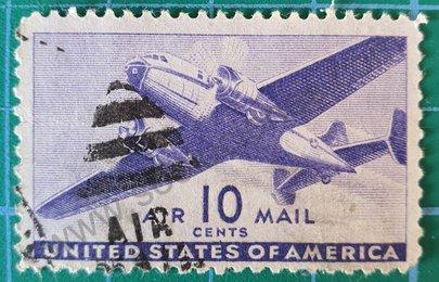 Sello de 1941 Estados Unidos bimotor - 10c