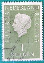 Sello Países Bajos 1981 Reina Juliana 1 Florín