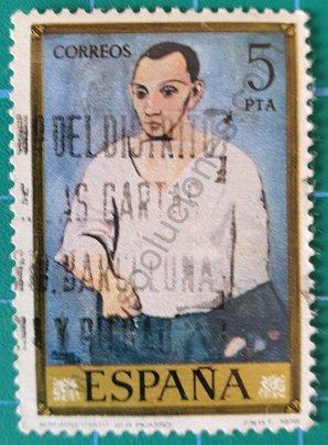 Sello Autorretrato Pablo Picasso - España 1978