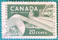 Sello Canadá 1956 Papelera