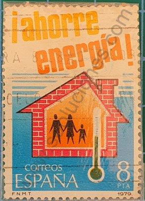 Sello Ahorro energía 0,30 € España 1979