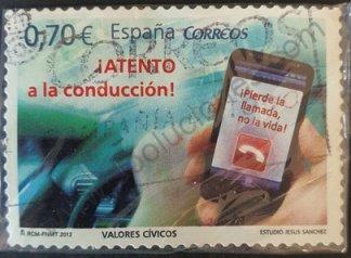Sello Atento a la conducción - España 2012