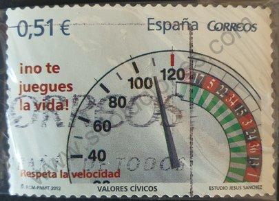 Sello Respeto de la velocidad - España 2012