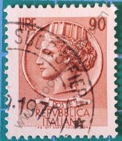 Sello Moneda 90 Liras Siracusa - Italia 1968