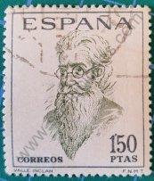 Sello Ramón del Valle Inclán - España 1966