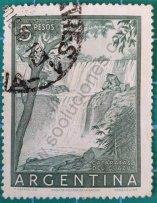 Sello Cataratas del Iguazú - Argentina 1955