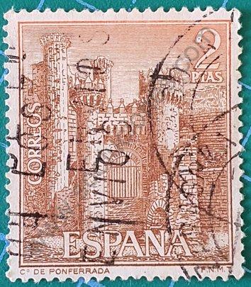 Sello Castillo de Ponferrada - España 1967