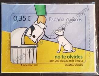 Sello de España año 2011. No te olvides