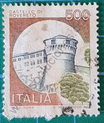Castillo di Rovereto - Sello de Italia 1980